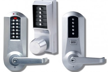 keyless keypad combination units for offices in commercial or industrial buildings